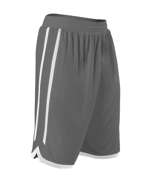 Alleson 588PY Youth Reversible Basketball Short - Charcoal White