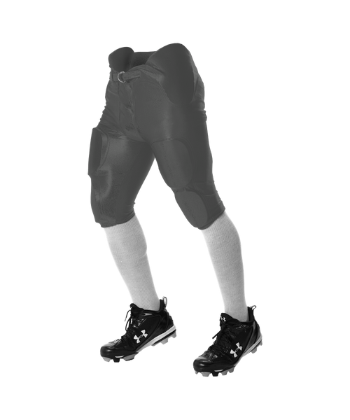 Alleson 681Y Youth Integrated Football Pant - Charcoal - Football - Hit A Double