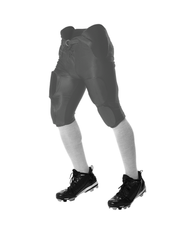 Alleson 688DY Youth Solo Series Integrated Football Pant - Charcoal - Football - Hit A Double