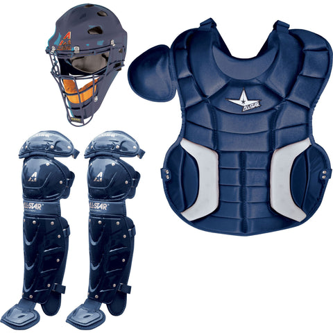 All-Star Player's Series Catcher's Set (Ages 12-16) - Navy - Catcher's Gear - Hit A Double