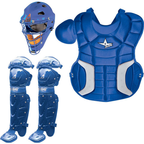 All-Star Player's Series Catcher's Set (Ages 9-12) - Royal - Catcher's Gear - Hit A Double