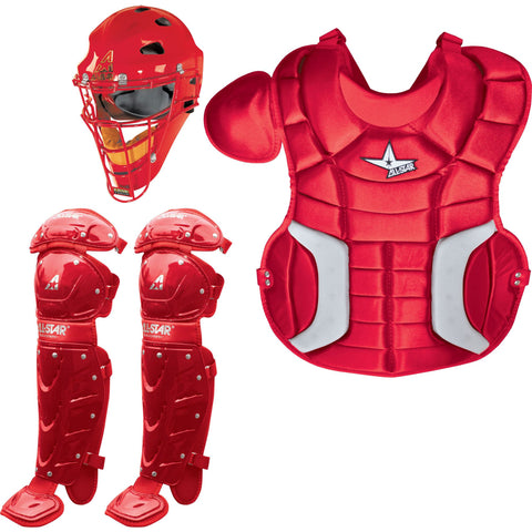 All-Star Player's Series Catcher's Set (Ages 9-12) - Scarlet - Catcher's Gear - Hit A Double