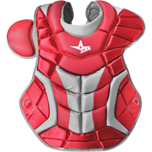 "All-Star Adult System 7 16.5"" Pro Chest Protector - Scarlet - Catcher"