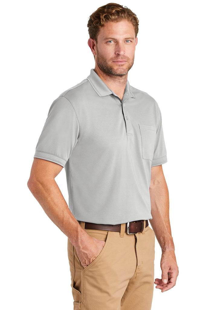 CornerStone CS4020P Industrial Snag-Proof Pique Pocket Polo - Light Gray - HIT A Double