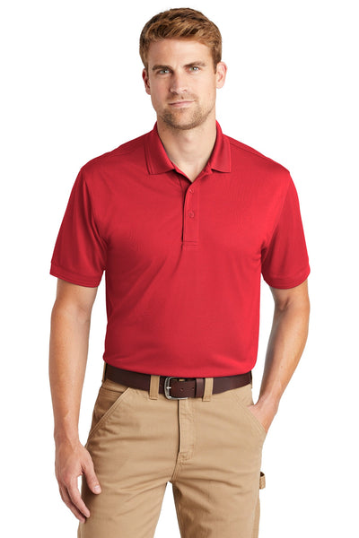 CornerStone CS4020 Industrial Snag-Proof Pique Polo - Red - HIT A Double
