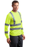 CornerStone CS409 Ansi 107 Class 3 Long Sleeve Snag-Resistant Reflective T-Shirt - Safety Yellow - HIT A Double
