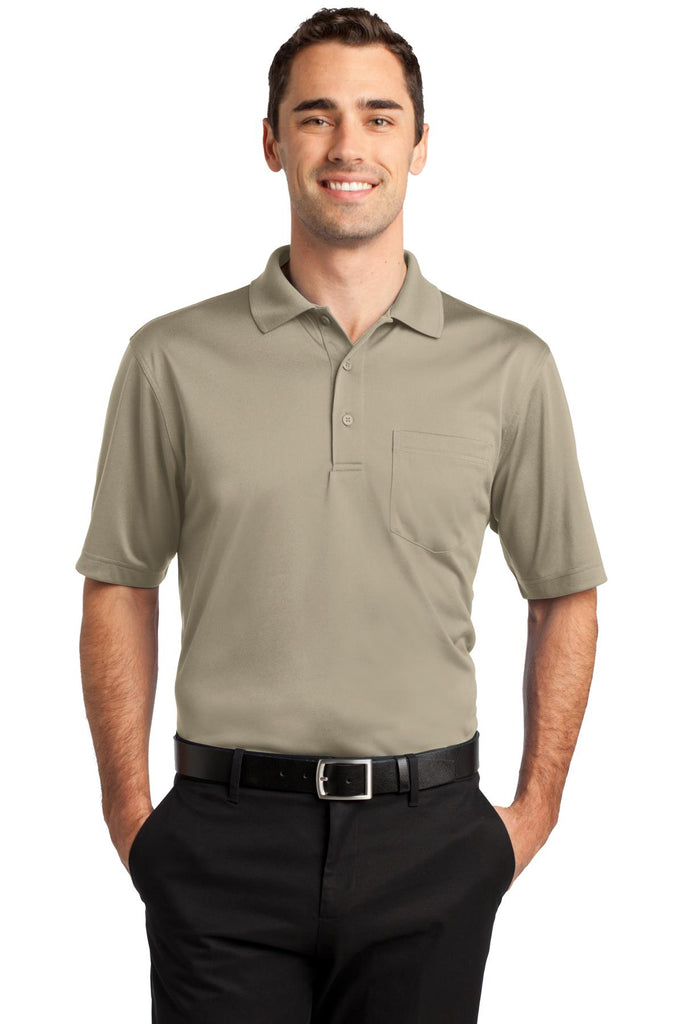 CornerStone CS412P Select Snag-Proof Pocket Polo - Tan - HIT A Double
