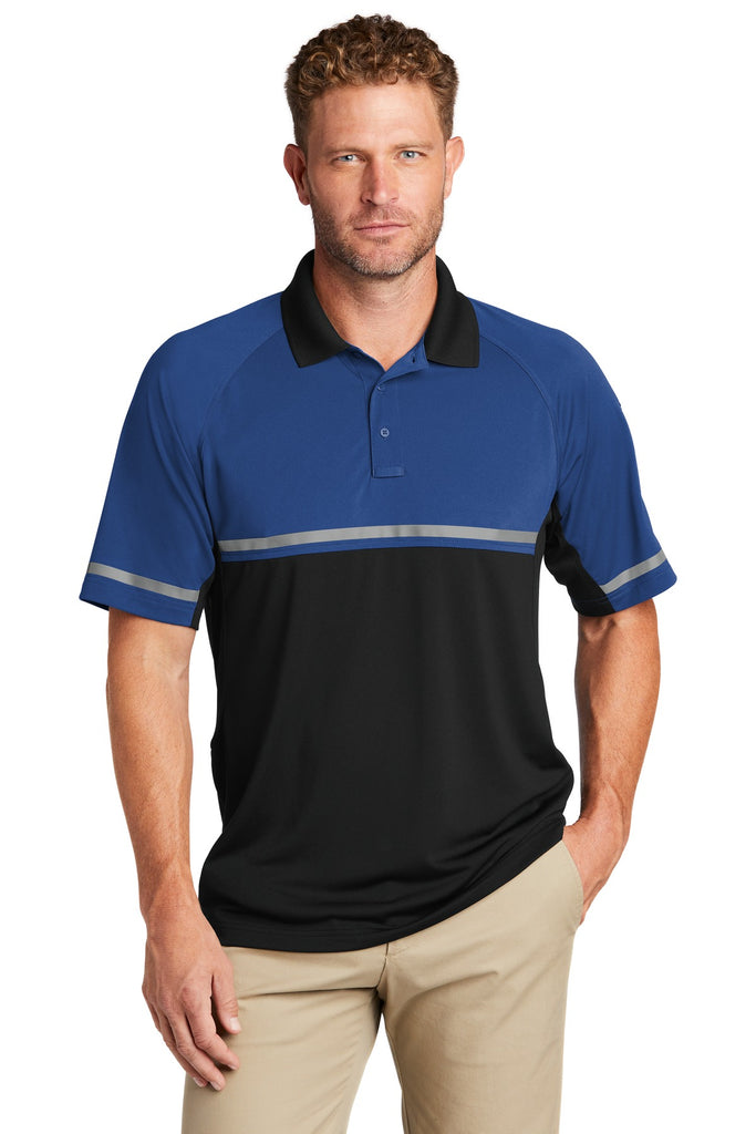 CornerStone CS423 Select Lightweight Snag-Proof Enhanced Visibility Polo - Royal Black