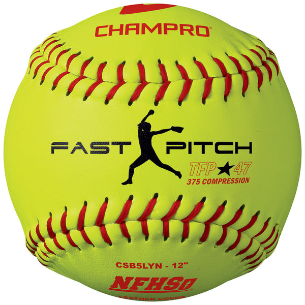 Champro CSB5LYN Nfhs12 Fast PitchLeather Cover .47Cor - HIT A Double