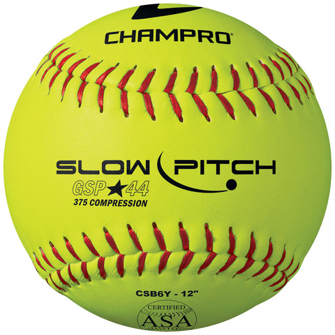 Champro CSB6Y ASA 12 Slow PitchDurahide Cover .44 Cor - HIT A Double