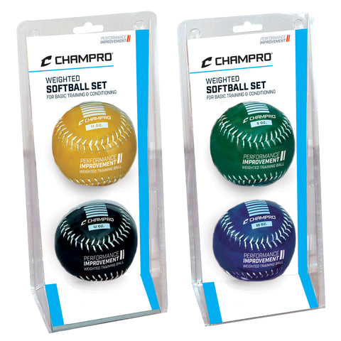 Champro CSB7AS-CSB7BS Weighted Training Softball Set 9 & 10 oz.