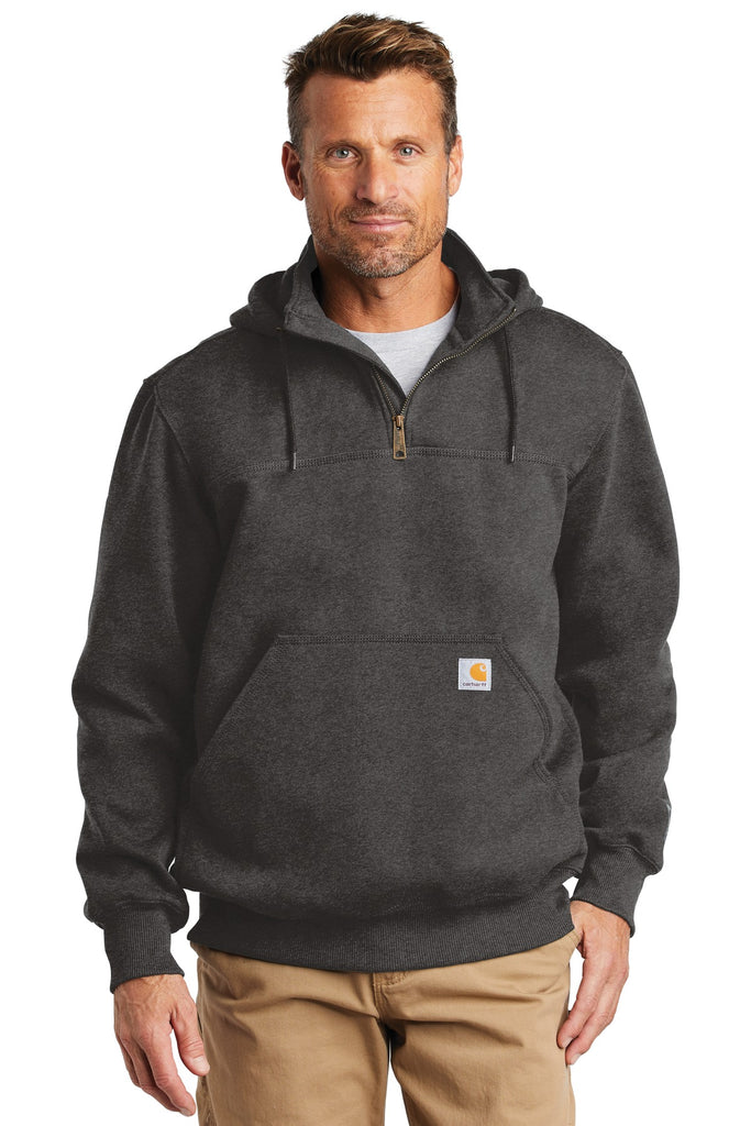 Carhartt CT100617 Rain Defender Paxton Heavyweight Hooded Zip Mock Sweatshirt - Carbon Heather - HIT A Double
