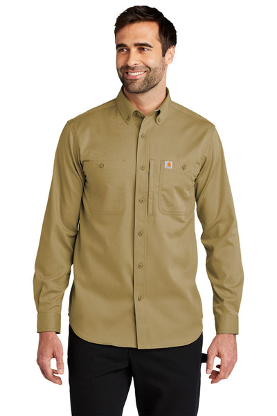 Carhartt CT102538 Rugged Professional Series Long Sleeve Shirt - Dark Khaki