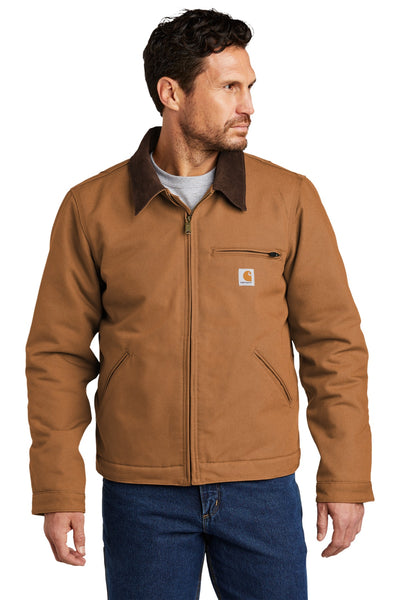 Carhartt CT103828 Duck Detroit Jacket - Carhartt Brown