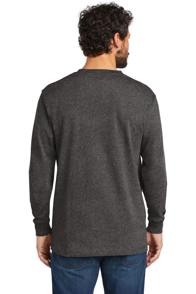 Carhartt CTK126 Workwear Pocket Long Sleeve T-Shirt - Carbon Heather - HIT A Double