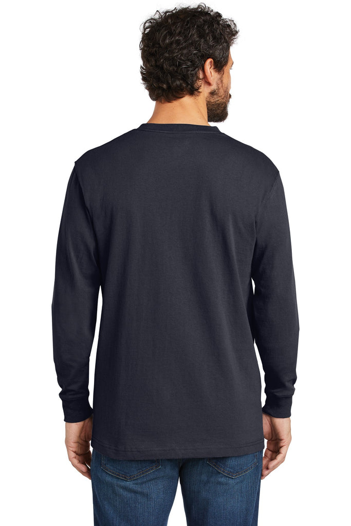 Carhartt CTK126 Workwear Pocket Long Sleeve T-Shirt - Navy - HIT A Double