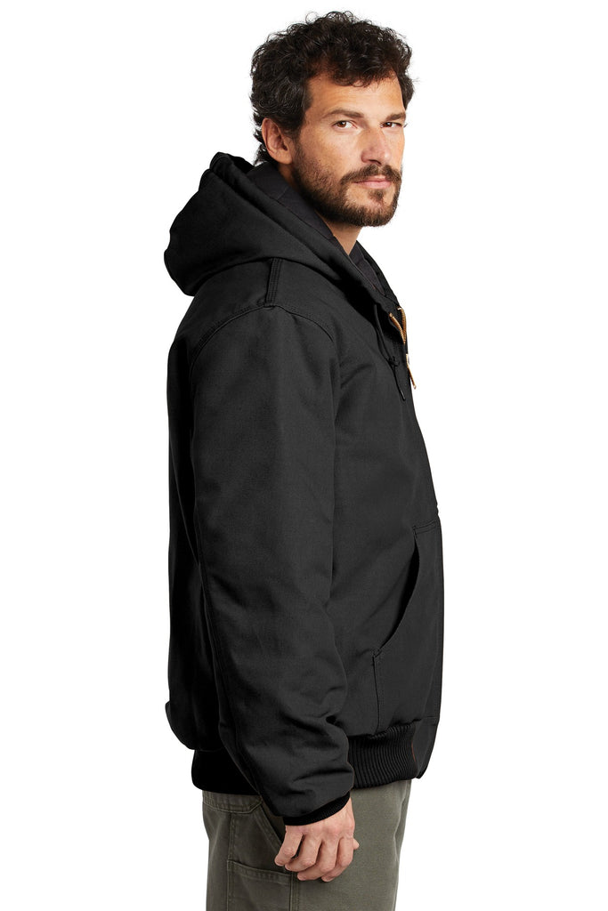 Carhartt CTSJ140 Quilted-Flannel-Lined Duck Active Jacket - Black - HIT A Double