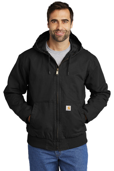 Carhartt CTT104050 Tall Washed Duck Active Jacket - Black
