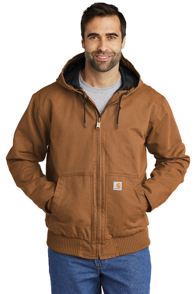 Carhartt CTT104050 Tall Washed Duck Active Jacket - Carhartt Brown