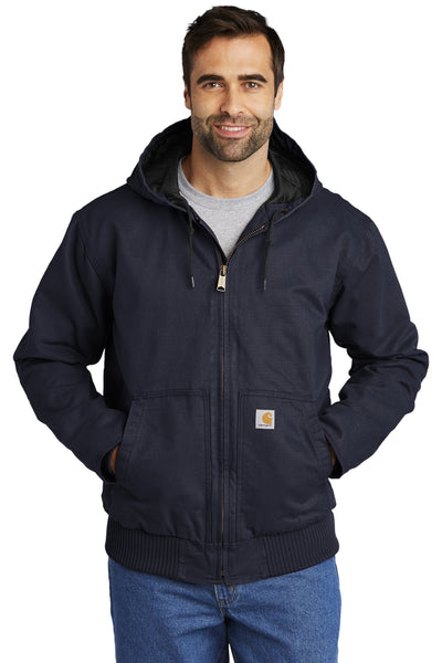 Carhartt CTT104050 Tall Washed Duck Active Jacket - Navy - HIT A Double
