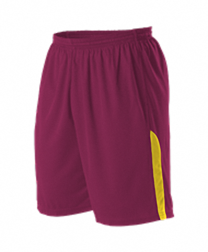 Alleson A205BY Youth NBA Blank Game Short - Wine Gold