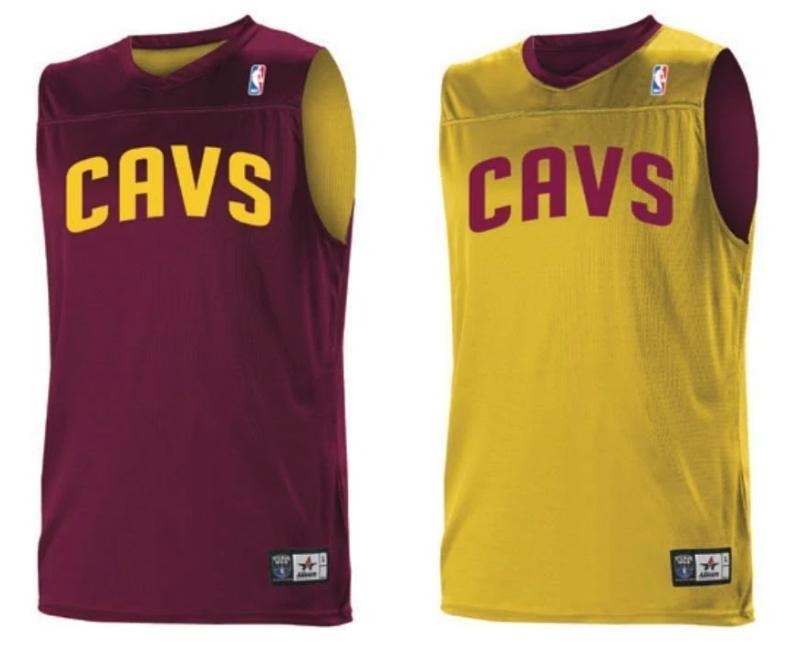 Alleson A105LY Youth NBA Logo Reversible Jersey - Cleveland Cavaliers