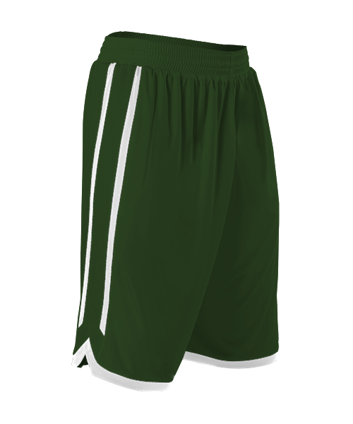 Alleson 588PY Youth Reversible Basketball Short - Forest White