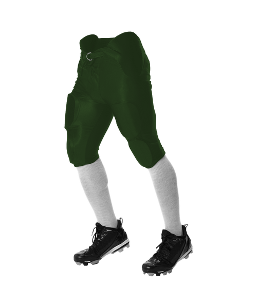 Alleson 688DY Youth Solo Series Integrated Football Pant - Forest - Football - Hit A Double
