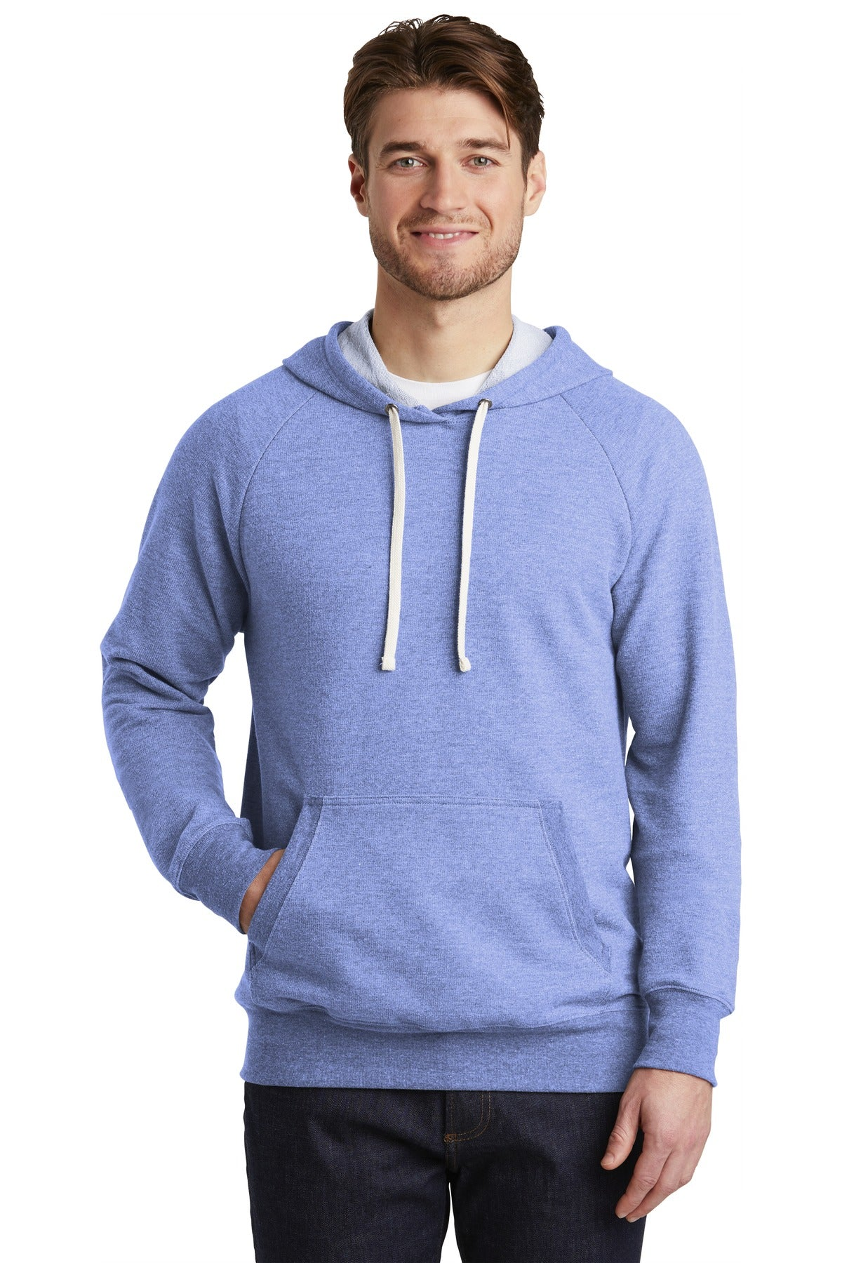 District DT355 Perfect Tri French Terry Hoodie - Maritime Frost - HIT A Double