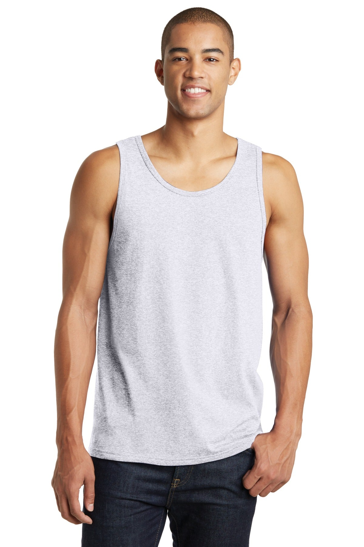 District DT5300 The Concert Tank - White Heather - HIT A Double