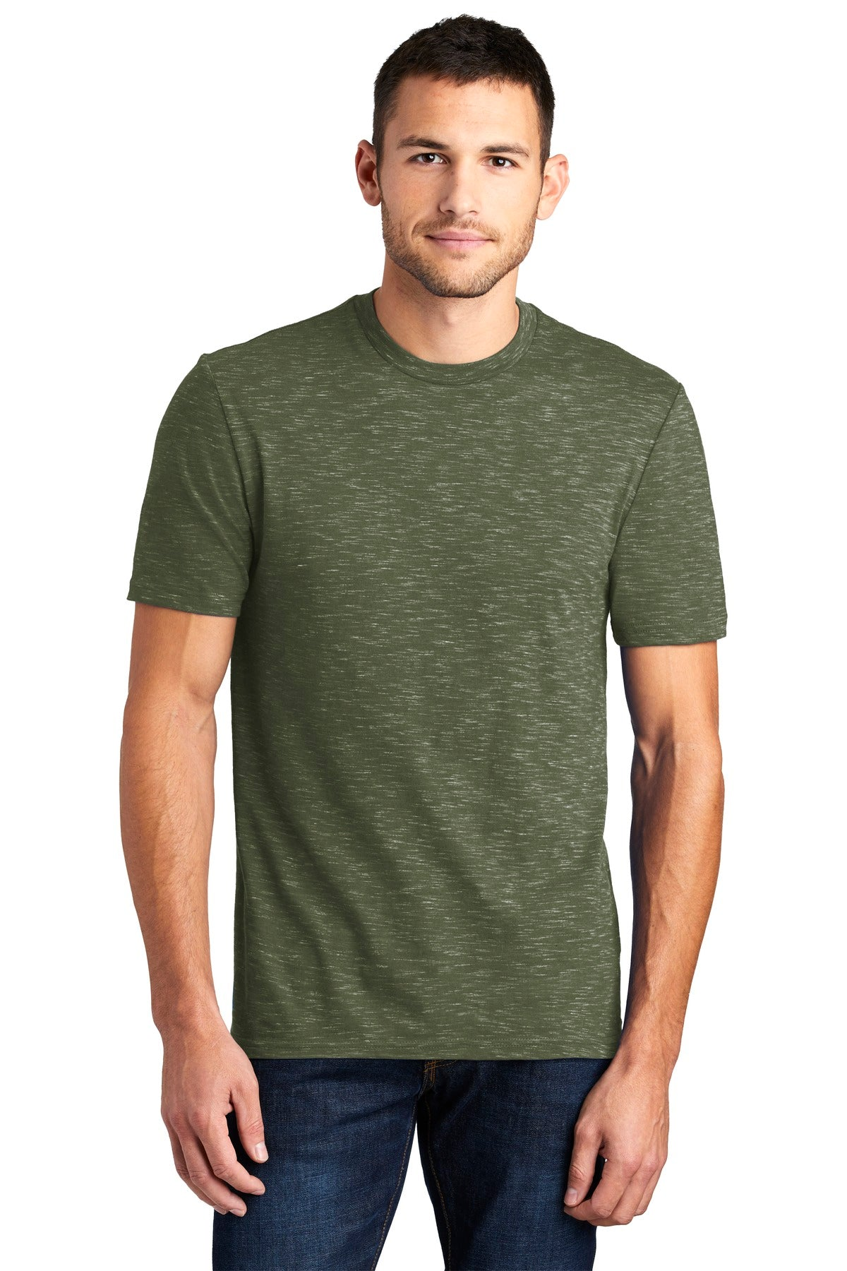 District DT564 Medal Tee - Olive - HIT A Double
