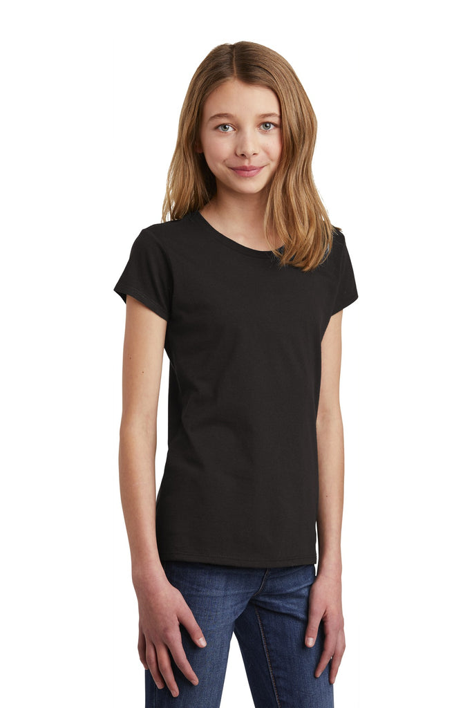 District DT6001YG Girls Very Important Tee - Black - HIT A Double
