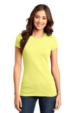 District DT6001 Women's Fitted Very Important Tee - Lemon Yellow - HIT A Double
