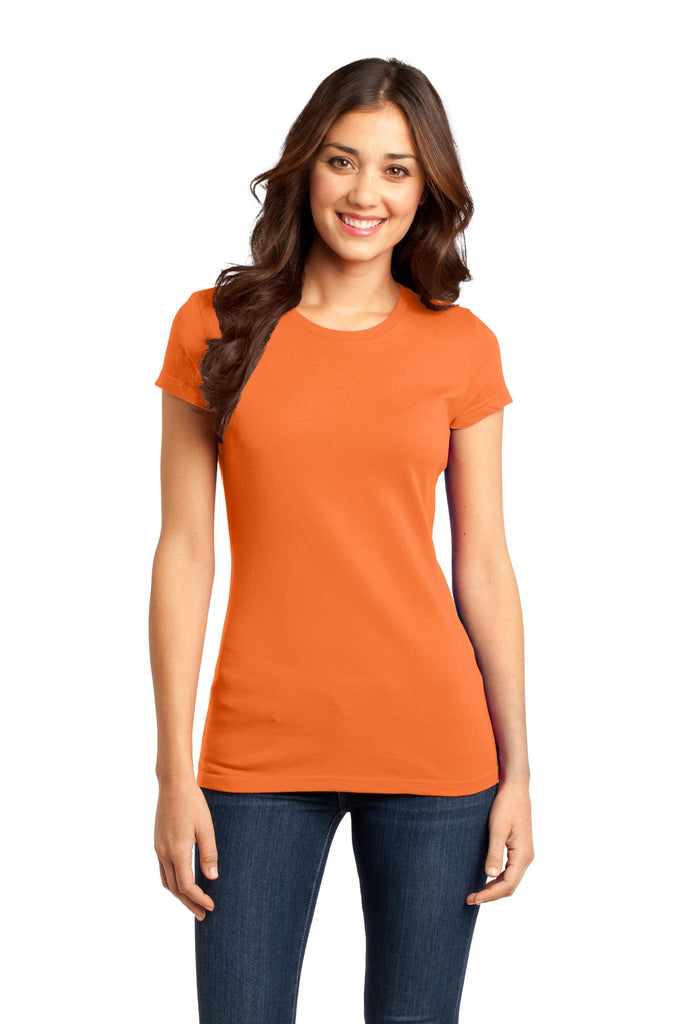 District DT6001 Women's Fitted Very Important Tee - Orange - HIT A Double