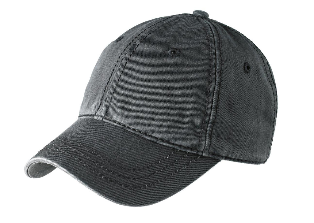 District DT610 Thick Stitch Cap - Nickel Black - HIT A Double