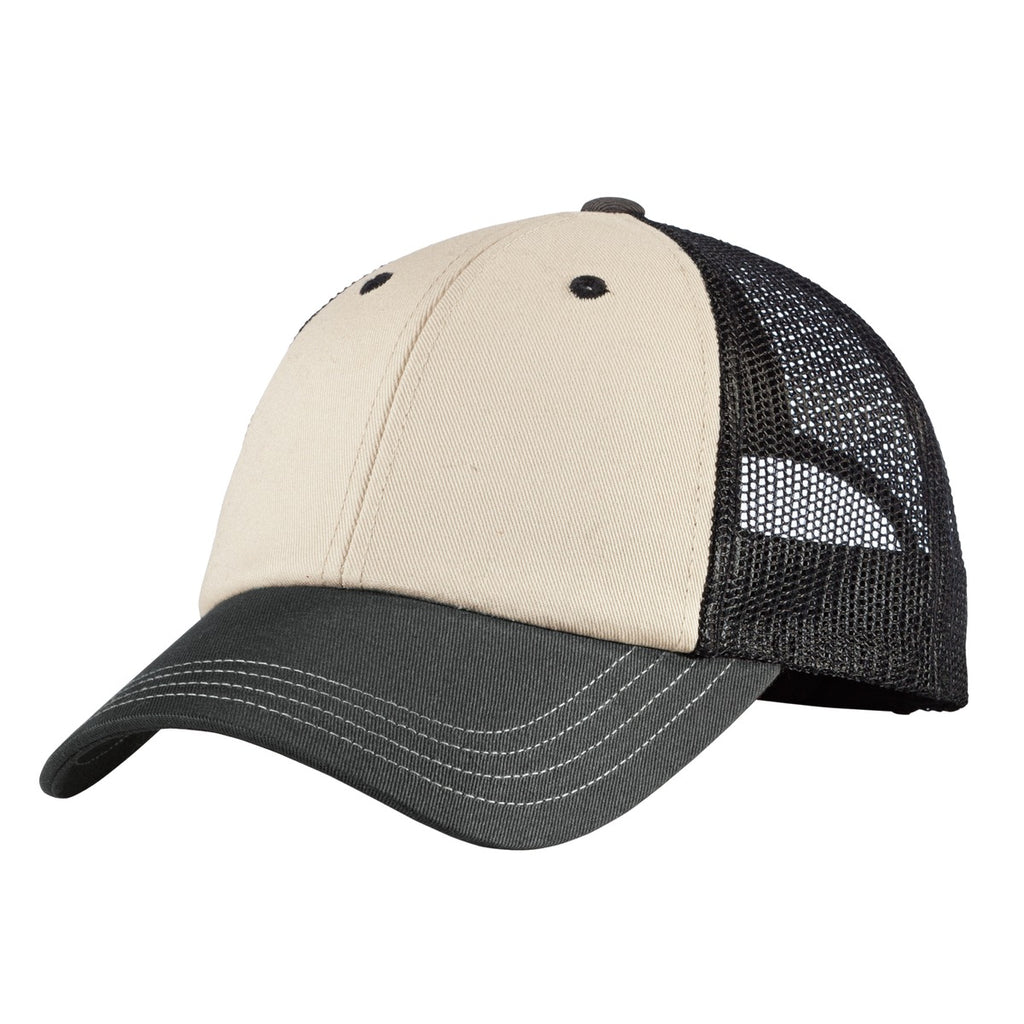 District DT616 Tri-Tone Mesh Back Cap DT616Sandstone Charcoal Black - HIT A Double