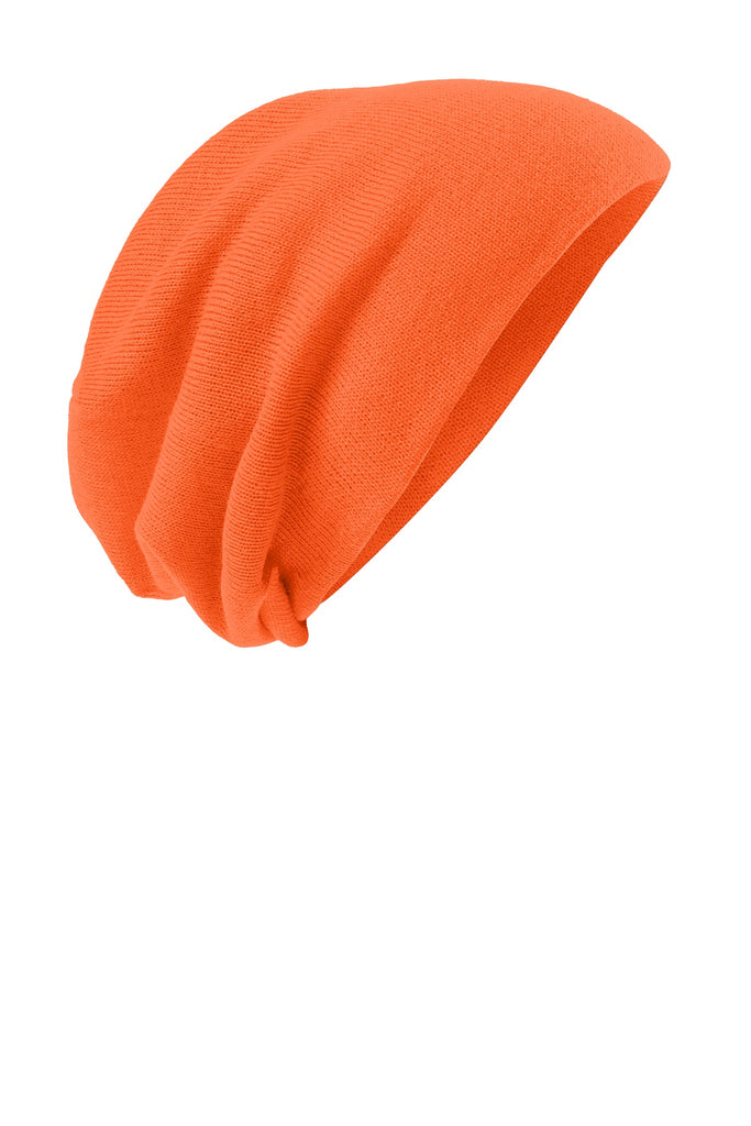 District DT618 Slouch Beanie - Neon Orange - HIT A Double