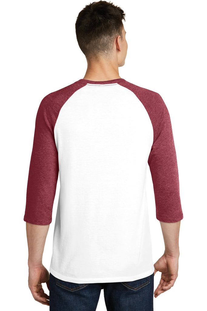 District DT6210 Very Important Tee 3/4-Sleeve Raglan - Heathered Red White - HIT A Double