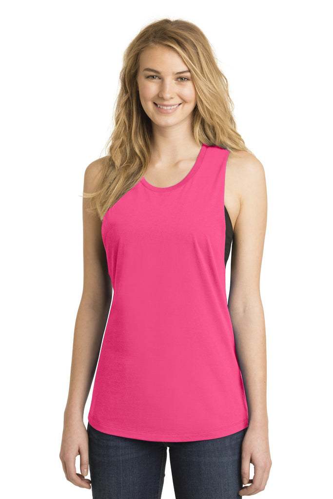 District DT6301 Women's Fitted V.I.T. Festival Tank - Dark Fuchsia - HIT A Double