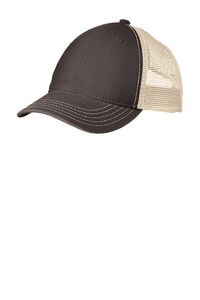 District DT630 Super Soft Mesh Back Cap - Chocolate Brown Stone - HIT A Double