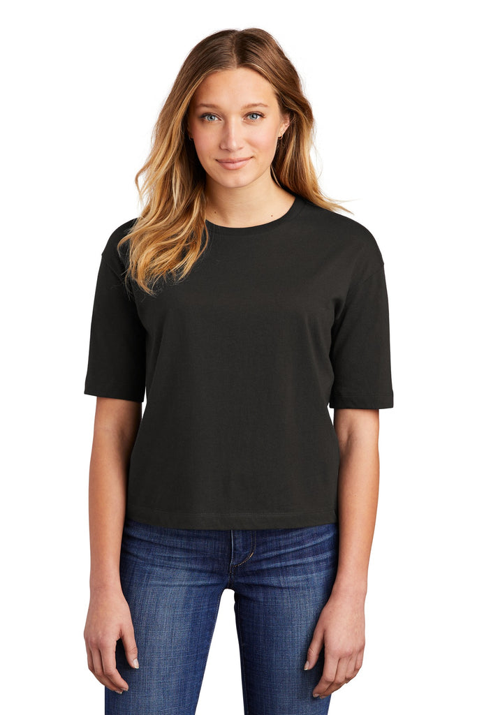 District DT6402 Women's V.I.T. Boxy Tee - Black - HIT A Double