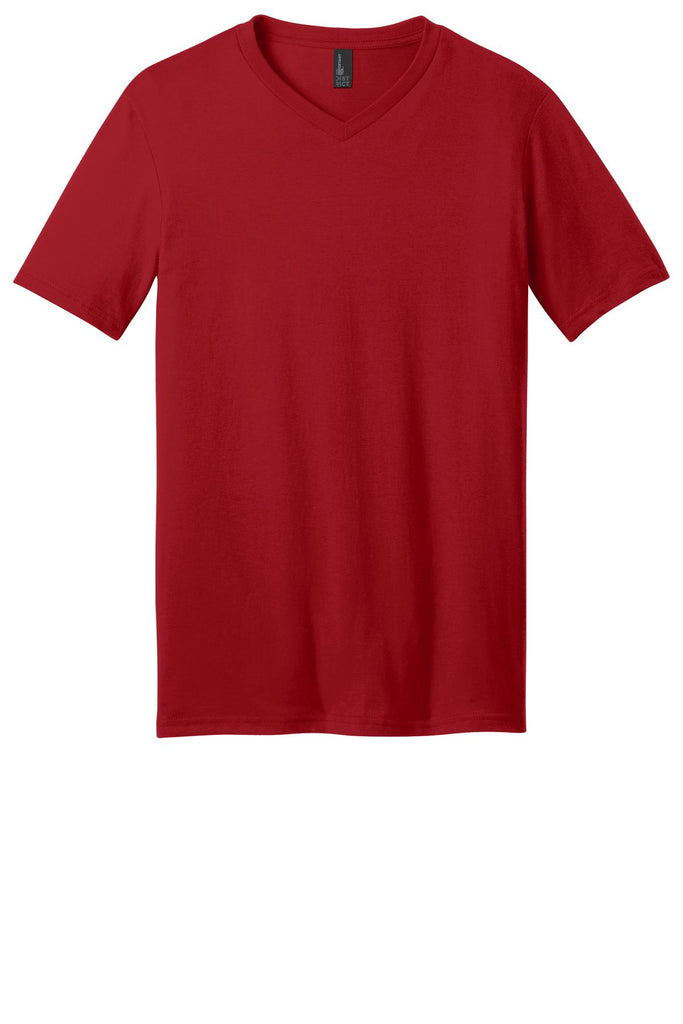 District DT6500 Very Important Tee V-Neck - Classic Red - HIT A Double