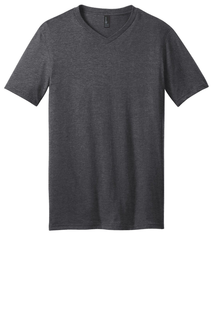 District DT6500 Very Important Tee V-Neck - Heathered Charcoal - HIT A Double