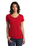 District DT6503 Women's Very Important Tee V-Neck - Classic Red - HIT A Double