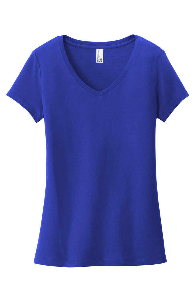 District DT6503 Women's Very Important Tee V-Neck - Deep Royal - HIT A Double