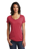District DT6503 Women's Very Important Tee V-Neck - Heathered Red - HIT A Double