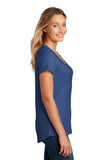 District DT7501 Womens Flex Scoop Neck Tee - Heathered Deep Royal - HIT A Double
