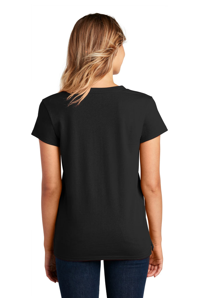 District DT8001 Womens Re-Tee V-Neck - Black - HIT A Double