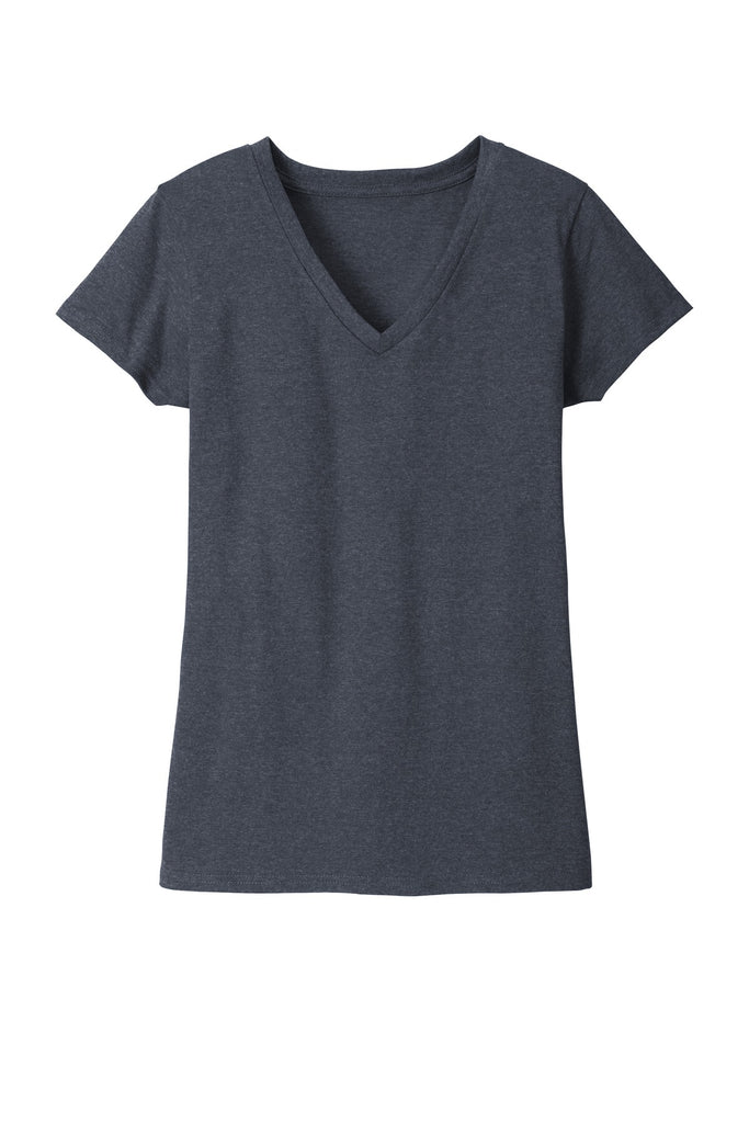 District DT8001 Womens Re-Tee V-Neck - Heathered Navy - HIT A Double
