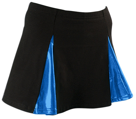 Pizzazz Metallic V-Panel Skirt with Boys Cut Briefs - Black Royal